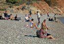 Antalya'daki Turistlerin Pandemide Deniz Keyfi